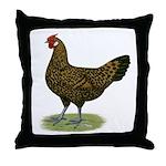 Hamburg Golden Spangled Hen Throw Pillow
