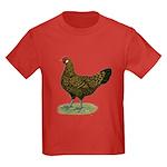 Hamburg Golden Spangled Hen Kids Dark T-Shirt