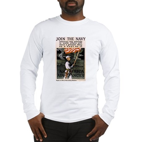 Join the Navy - Be Part of It Long Sleeve T-Shirt