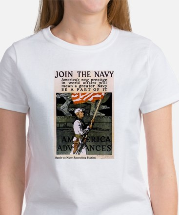 Join the Navy - Be Part of It Women's T-Shirt