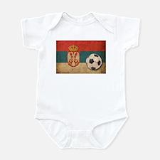 Vintage Serbia Football Infant Bodysuit