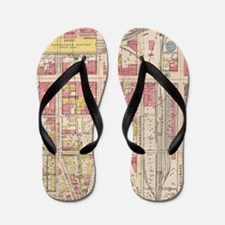 Vintage Map of Indianapolis Indiana (19 Flip Flops