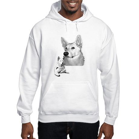 White German Shepherd Hooded Sweatshirt