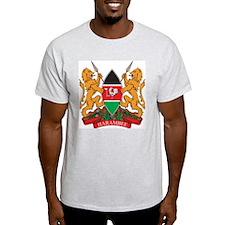Kenya Coat of Arms Ash Grey T-Shirt