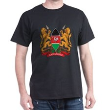 Kenya Coat of Arms Black T-Shirt
