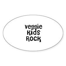 Veggie Kids Rock Oval Decal