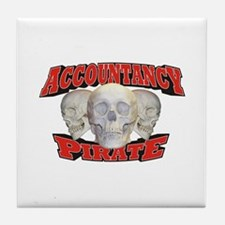 Accountancy Pirate Tile Coaster