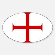 Knights Templar Sticker (Oval)