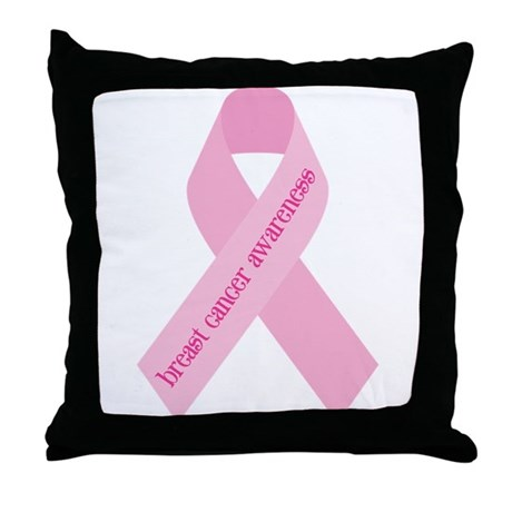 Awareness Ribbon Throw Pillow