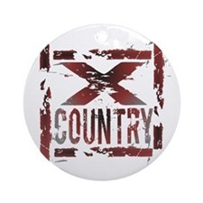 Cross Country Ornament (Round)