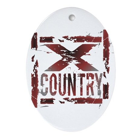 Cross Country Ornament (Oval)