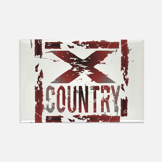 Cross Country Rectangle Magnet