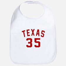 Texas 35 Birthday Designs Cotton Baby Bib