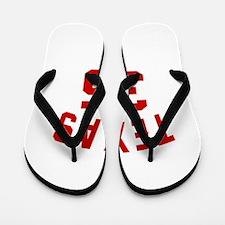 Texas 35 Birthday Designs Flip Flops