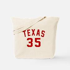 Texas 35 Birthday Designs Tote Bag
