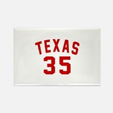 Texas 35 Birthday Designs Rectangle Magnet