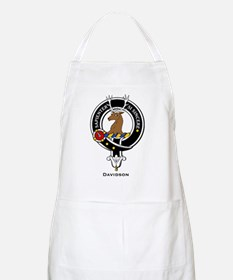 Davidson Clan Crest Badge BBQ Apron