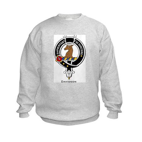 Davidson Clan Crest Badge Kids Sweatshirt