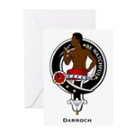 Darroch Clan Crest Badge Greeting Cards (Package o