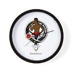 Darroch Clan Crest Badge Wall Clock