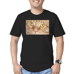 Orange Tabby Cat Men's Fitted T-Shirt (dark)