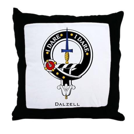 Dalzell Clan Crest Badge Throw Pillow