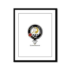 Cunningham Clan Crest Badge Framed Panel Print