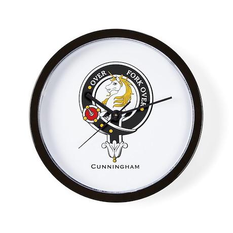 Cunningham Clan Crest Badge Wall Clock
