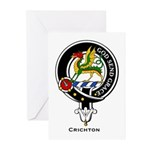 Crighton Clan Crest Badge Greeting Cards (Package
