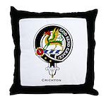 Crighton Clan Crest Badge Throw Pillow