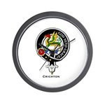 Crighton Clan Crest Badge Wall Clock