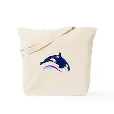 Jumping Orca Tote Bag