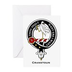 Cranstoun Clan Crest Badge Greeting Cards (Package