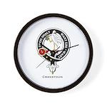 Cranstoun Clan Crest Badge Wall Clock