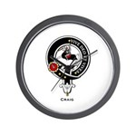 Craig Clan Crest Badge Wall Clock