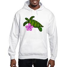 Colored Sea Turtle Hibiscus Jumper Hoody