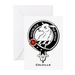 Colville Clan Crest Badge Greeting Cards (Package