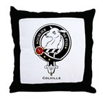 Colville Clan Crest Badge Throw Pillow
