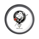Colville Clan Crest Badge Wall Clock