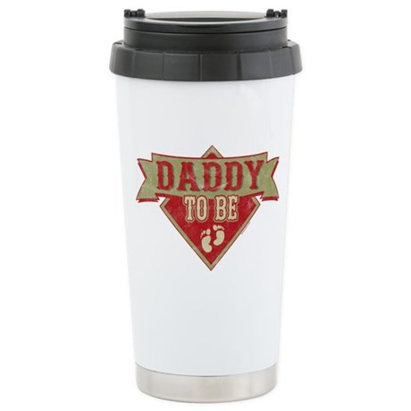 Pennant Dad To Be Stainless Steel Travel Mug
