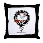 Cockburn Clan Crest Badge Throw Pillow