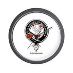 Cockburn Clan Crest Badge Wall Clock