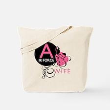 Initial Swirl - Air Force Wif Tote Bag