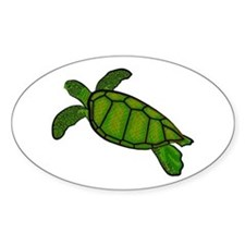 Green Sea Turtle Decal