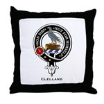 Clelland Clan Crest Badge Throw Pillow