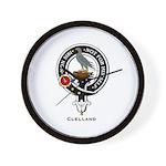 Clelland Clan Crest Badge Wall Clock