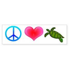 Peace Love Sea Turtles Bumper Sticker