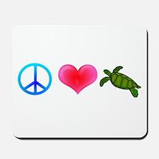 Peace Love Sea Turtles Mousepad