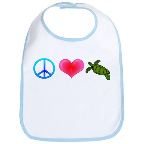 Peace Love Sea Turtles Bib