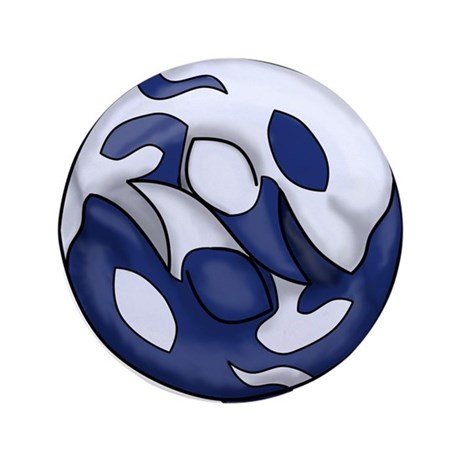 "Orca Yin Yang 3.5"" Button (100 pack)"